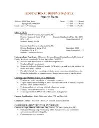 Examples Of Social Work Resumes Examples Of Resumes For Resume