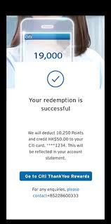 citi thankyou rewards redeem card