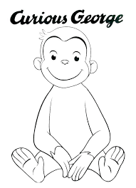 curious george coloring printables pages printable extraordinary color book page pictures amazon colouring curious george