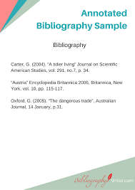 Annotated Bibliography Ideas Annotated Bibliography Topics