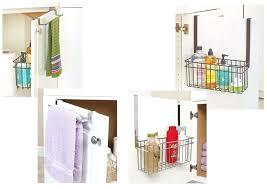 hanging over the door storage basket organizer towel diy