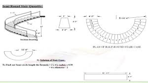 Spiral Staircase Design Calculation How To Calculate Semi Round Stair Quantity Lecture 21