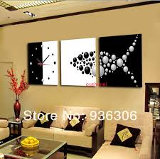 paintings for living room wallAliexpresscom  Buy Hand Painted Abstract Clock Paintings For