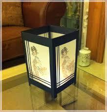 shoji table lamp new shoji style lamp aurora wings