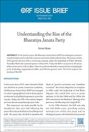 Understanding The Rise Of The Bharatiya Janata Party Orf