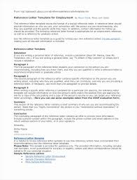Letter Of Recommendation Template For Employee Collection Letter