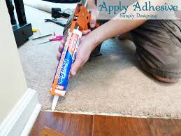 Apply Adhesive For Transition Strip
