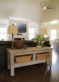 Wonderful Sofa Table Decor Pottery Barn Intended Innovation Design