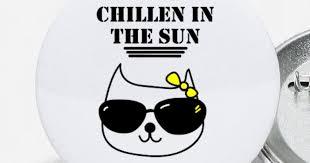 Katze Sommer Urlaub Sprüche Englisch Buttons Klein Spreadshirt