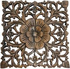 carved wall decor wood plaque oriental carved lotus rustic wall decor hand carved wall art decor carved wall decor