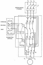 starting three phase squirrel cage induction motors 9 a panel or wiring diagram of an across the line magnetic starter reversing capability