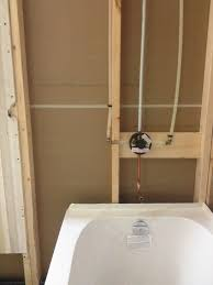 33 peachy design shower tub installation new bathtub and moen valve plumbing for of callaway acrylic posi temp installing bath fitter replacing with diagram