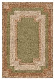 liora manne ravella border indoor outdoor rug green 24 x36 contemporary outdoor rugs by arearugs