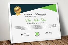 Certificate ~ Stationery Templates ~ Creative Market