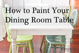 diy painting kitchen table and chairs