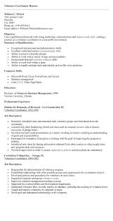 Volunteer Coordinator Resume Samples