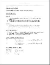 Internship Resume Objective Sample On High School Example Here Are