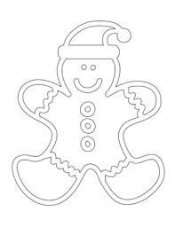 Gingerbread Man Coloring Sheet Printable Treats Com