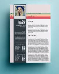 Creative Design Resume Templates Amazing Creative Resume Template In