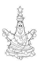 Small Picture Patrick Friend Spongebob Christmas Very Happy Coloring Page