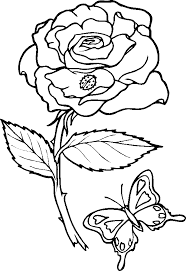 Free valentine coloring pages, sheets and pictures for kids. Free Printable Pictures Of Roses Coloring Home