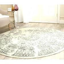 jute rug 6x9 round ivory vintage distressed silver oval
