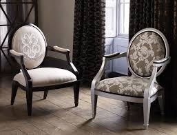traditional chair design. Furniture:Terrific Neo Classic Oval Back Arm Chair Design Ideas With Floral Patterned Padded Traditional