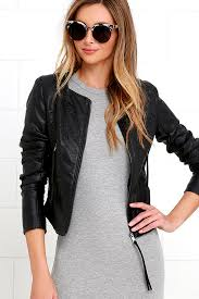 blank nyc through and through jacket black vegan leather jacket collarless vegan leather jacket 103 00