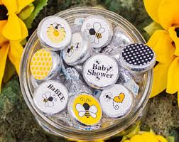 Bumblebee Baby Shower Keychain Favor  Baby Shower Favors  Baby Bumble Bee Baby Shower Party Favors