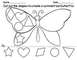 Butterfly Shapes Symmetry Math Cut And Paste