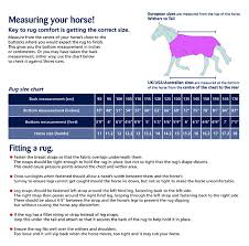 Shires Rug Size Chart Size Guide