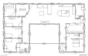 Super Plan De Maison En U Pour Famille Avec Enfants   3 Chambres Et Suite  Parentale