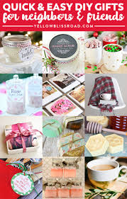 Quick & Easy Inexpensive DIY Gifts form Neighbors, Friends or Teachers