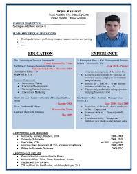Job Application Resume Format Letter Template Formater Pdf For ...