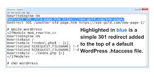 wordpress 301 redirect