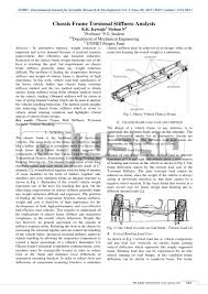 Ladder Frame Chassis Design Calculations Chassis Frame Torsional Stiffness Analysis By International