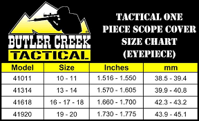 Butler Creek Multiflex Size Chart Butler Creek Tactical One Piece Eyepiece Scope Cover Size 16 17 18 1 660 1 700 Inch 42 3 43 2mm