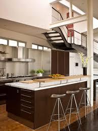 ... Kitchen Design, Dark Brown Rectangle Modern Steel Open Kitchen Designs  In Small Apartments Stained Ideas ...