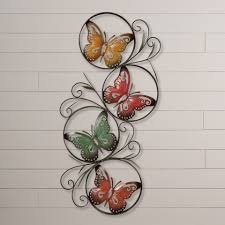 mirror wall decor circle panel:  full size of wildlife theme interior wall decoration home setting ila butterfly wall decor silver metal
