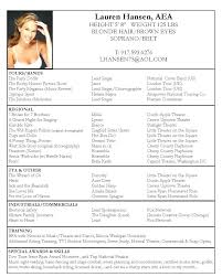 Theatre Resume Template Stunning 5115 Resume Template For Actors Theatre Resume Template Musical Theatre