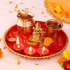 dess saraswati br idol with puja accessories