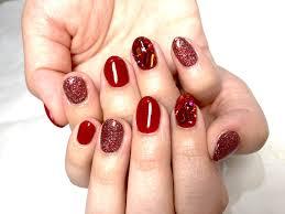大好きなあか 赤ネイル バレンタインのラメネイルデザイン By