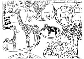 Production Orale La Ptite Ecole Du Fle Coloriage Zoo Dessin