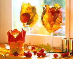fall leaves decorations fall decorating ideas wrapped wine glasses autumn leaves fall leaves wall decorations