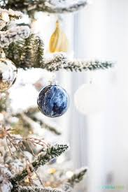 Diy Marble Paint Ornaments Our Office Christmas Tree