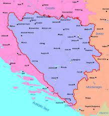 Avrupa (Güney Avrupa), Bosna Hersek siyasi haritası, Bosna Hersek siyasi  haritası