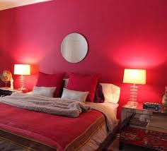 Mirrored Bedrooms Bedrooms With Red Walls And Mirror And Mirrored Nightstands