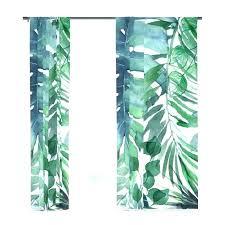palm print shower curtain green leaf shower curtain tropical leaf shower curtain tropical leaves window curtains
