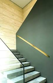 half wall cap half wall staircase contemporary staircase using both glass handrail and half wall with