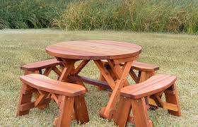 modern outdoor ideas medium size large round picnic table plans designs wooden wood with benches lifetime